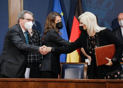 Agreement on the construction of a section within Trans-Balkan electricity corridor signed