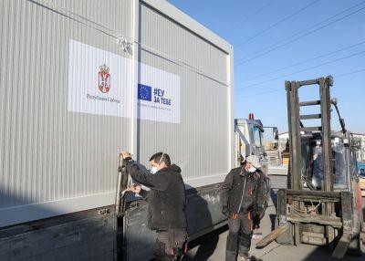 EU donirala Srbiji 100 trijažnih kontejnera za hitnu negu pacijenata
