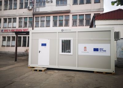 Pirot Receieves EU Funded COVID-19  Testing Container